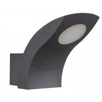 RABALUX 8566 | Melbourne Rabalux zidna svjetiljka 1x LED 480lm 3000K IP54 tamno sivo