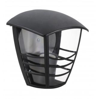 RABALUX 8570 | Marseille Rabalux zidna svjetiljka 1x E27 IP44 UV crno, prozirno