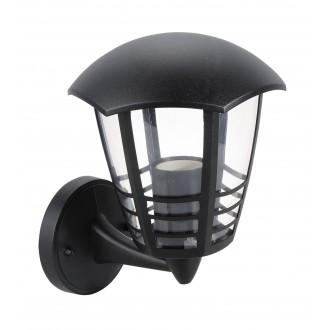 RABALUX 8618 | Marseille Rabalux zidna svjetiljka 1x E27 IP44 UV crno, prozirno