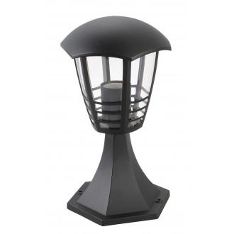 RABALUX 8619 | Marseille Rabalux podna svjetiljka 29,7cm 1x E27 IP44 UV crno, prozirno