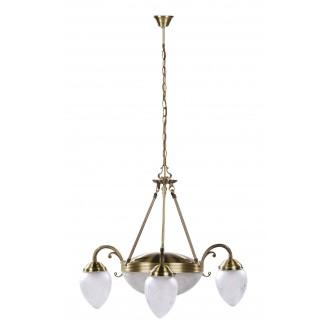 RABALUX 8633 | Annabella Rabalux luster svjetiljka 3x E14 + 2x E27 bronca, prozirno