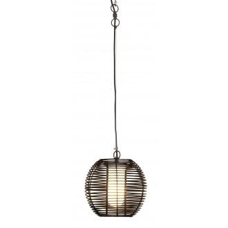 RABALUX 8648   Knoxville Rabalux visilice svjetiljka 1x E27 IP44 UV crno, smeđe, bijelo