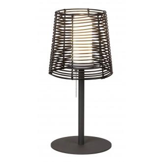 RABALUX 8649 | Knoxville Rabalux stolna svjetiljka 51cm s poteznim prekidačem 1x E27 IP44 UV crno, smeđe, bijelo