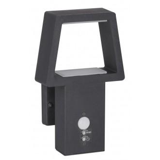 RABALUX 8668 | ArizonaR Rabalux zidna svjetiljka sa senzorom 1x LED 900lm 3000K IP44 antracit