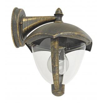 RABALUX 8670 | Miami Rabalux zidna svjetiljka 1x E27 IP44 UV antik zlato, bijelo