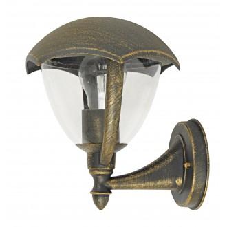 RABALUX 8671 | Miami Rabalux zidna svjetiljka 1x E27 IP44 UV antik zlato, bijelo