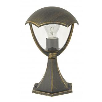 RABALUX 8672 | Miami Rabalux podna svjetiljka 31cm 1x E27 IP44 UV antik zlato, bijelo
