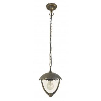 RABALUX 8673 | Miami Rabalux visilice svjetiljka 1x E27 IP44 UV antik zlato, bijelo