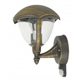 RABALUX 8676 | Miami Rabalux zidna svjetiljka sa senzorom 1x E27 IP44 UV antik zlato, bijelo