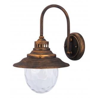 RABALUX 8677 | Barcelona Rabalux zidna svjetiljka 1x E27 IP43 antik zlato, prozirno