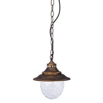 RABALUX 8678 | Barcelona Rabalux visilice svjetiljka 1x E27 IP43 antik zlato, prozirno