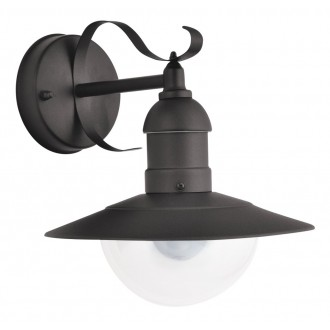 RABALUX 8680   OsloR Rabalux zidna svjetiljka 1x E27 IP44 UV crno mat, prozirno
