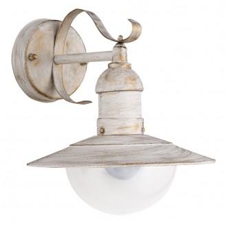 RABALUX 8681   OsloR Rabalux zidna svjetiljka 1x E27 IP44 UV antik bijela, prozirno