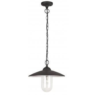 RABALUX 8687 | Vigo Rabalux visilice svjetiljka 1x E27 IP44 crno mat, bijelo
