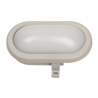 RABALUX 8694 | Mumbai Rabalux zidna svjetiljka 1x LED 500lm 4000K IP44 UV sivo, bijelo