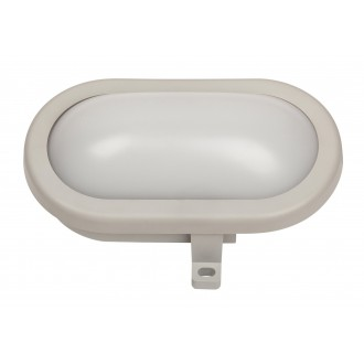 RABALUX 8695 | Mumbai Rabalux zidna svjetiljka 1x LED 800lm 4000K IP44 UV sivo, bijelo