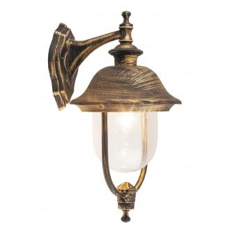RABALUX 8696 | NewYork-XXL Rabalux zidna svjetiljka 1x E27 IP44 UV antik zlato, prozirno