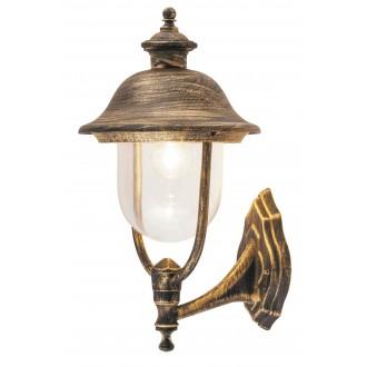 RABALUX 8697 | NewYork-XXL Rabalux zidna svjetiljka 1x E27 IP44 UV antik zlato, prozirno