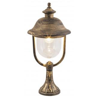 RABALUX 8698 | NewYork-XXL Rabalux podna svjetiljka 53,8cm 1x E27 IP44 UV antik zlato, prozirno