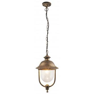 RABALUX 8699 | NewYork-XXL Rabalux visilice svjetiljka 1x E27 IP44 UV antik zlato, prozirno