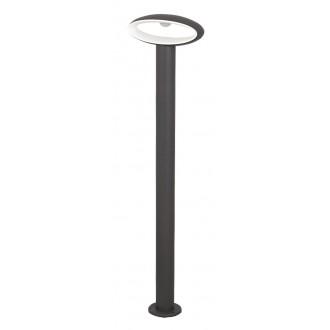 RABALUX 8704 | Bristol Rabalux podna svjetiljka 80cm 1x LED 810lm 4000K IP54 UV antracit, bijelo