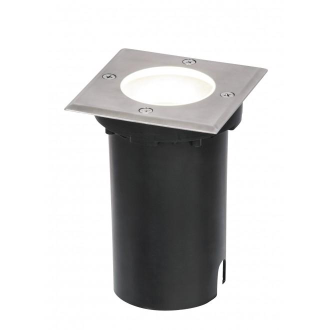 RABALUX 8714 | Tacoma Rabalux ugradbena svjetiljka 110x110mm 1x GU10 IP65 plemeniti čelik, čelik sivo