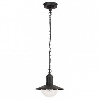 RABALUX 8717 | OsloR Rabalux visilice svjetiljka 1x E27 IP44 UV crno, prozirno