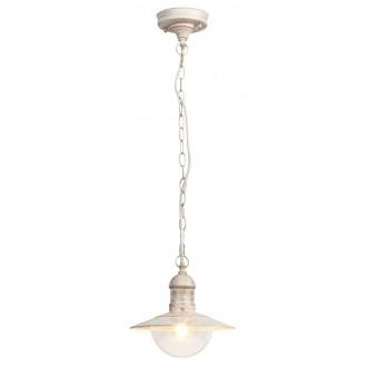 RABALUX 8740 | OsloR Rabalux visilice svjetiljka 1x E27 IP44 UV antik bijela, prozirno