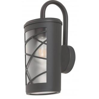 RABALUX 8742 | PescaraR Rabalux zidna svjetiljka 1x E27 IP44 UV antracit siva, opal