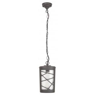 RABALUX 8743 | PescaraR Rabalux visilice svjetiljka 1x E27 IP44 UV antracit siva, opal
