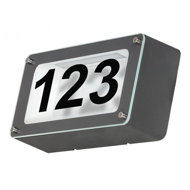 RABALUX 8747 | Hannover Rabalux zidna svjetiljka 1x LED 480lm 4500K IP54 antracit, prozirno