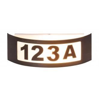 RABALUX 8748 | Innsbruck Rabalux zidna svjetiljka 1x E27 IP44 UV antracit, bijelo