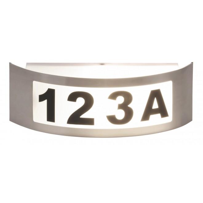 RABALUX 8749 | Innsbruck Rabalux zidna svjetiljka 1x E27 IP44 UV plemeniti čelik, čelik sivo, bijelo