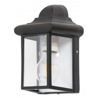 RABALUX 8752   Norvich Rabalux zidna svjetiljka 1x E27 IP43 crno mat, prozirno