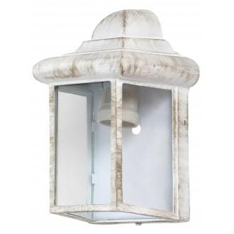 RABALUX 8753   Norvich Rabalux zidna svjetiljka 1x E27 IP43 antik bijela, prozirno