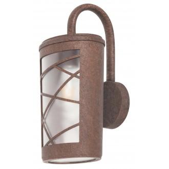 RABALUX 8757 | PescaraR Rabalux zidna svjetiljka 1x E27 IP44 UV smeđe, rdža smeđe, opal