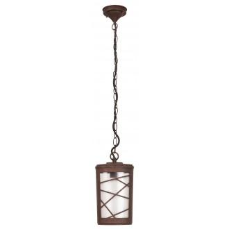 RABALUX 8758 | PescaraR Rabalux visilice svjetiljka 1x E27 IP44 UV smeđe, rdža smeđe, opal