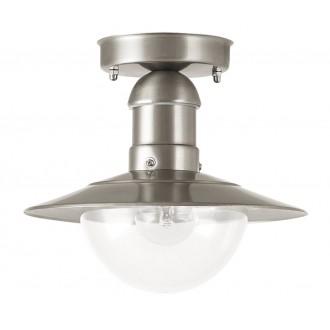 RABALUX 8763 | OsloR Rabalux stropne svjetiljke svjetiljka 1x E27 IP44 UV plemeniti čelik, čelik sivo, prozirno