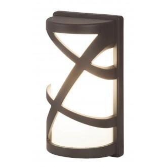 RABALUX 8767 | Durango Rabalux zidna svjetiljka 1x E27 IP54 UV antracit, bijelo