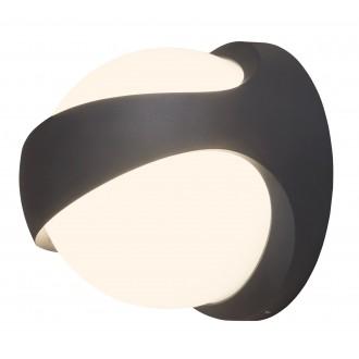 RABALUX 8769 | FremontR Rabalux zidna svjetiljka 1x LED 1100lm 4000K IP54 UV antracit, bijelo