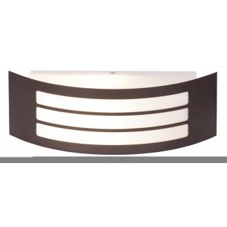 RABALUX 8777 | Roma Rabalux zidna svjetiljka 1x E27 IP44 UV smeđe, bijelo