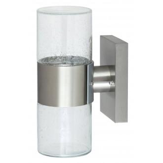 RABALUX 8786 | Lienz Rabalux zidna svjetiljka 1x G9 320lm 3000K IP44 plemeniti čelik, čelik sivo, prozirna
