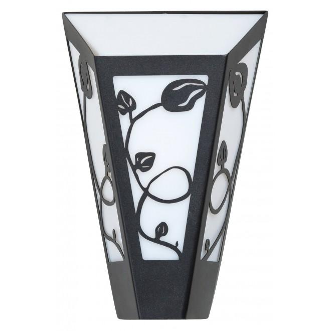 RABALUX 8790   York Rabalux zidna svjetiljka 1x E27 IP44 UV crno mat, opal