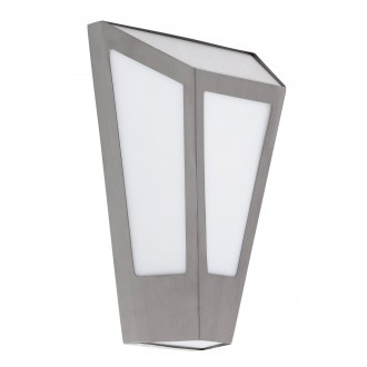 RABALUX 8791 | York Rabalux zidna svjetiljka 1x E27 IP44 UV plemeniti čelik, čelik sivo