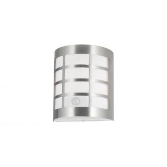 RABALUX 8800   SevillaR Rabalux zidna svjetiljka sa senzorom, svjetlosni senzor - sumračni prekidač 1x E27 IP44 UV krom saten, bijelo
