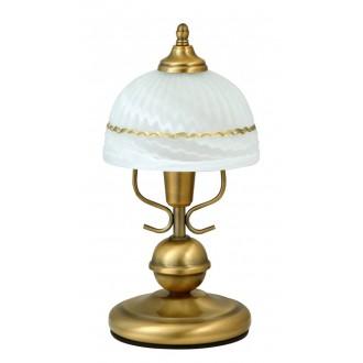 RABALUX 8812   Flossi Rabalux stolna svjetiljka 32cm sa prekidačem na kablu 1x E14 bronca, bijelo alabaster