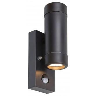 RABALUX 8835 | Medina-RA Rabalux zidna svjetiljka sa senzorom 2x GU10 IP44 UV crno mat
