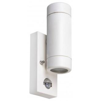 RABALUX 8839 | Medina-RA Rabalux zidna svjetiljka sa senzorom 2x GU10 IP44 UV bijelo mat