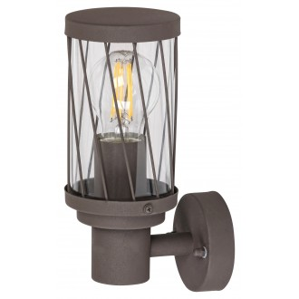 RABALUX 8888 | Budapest_RA Rabalux zidna svjetiljka 1x E27 IP44 UV smeđe, prozirno