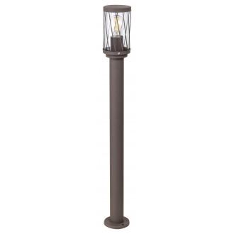 RABALUX 8890 | Budapest_RA Rabalux podna svjetiljka 80cm 1x E27 IP44 UV smeđe, prozirno